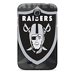 Defender Case For Galaxy S4, Oakland Raiders Hd Pattern