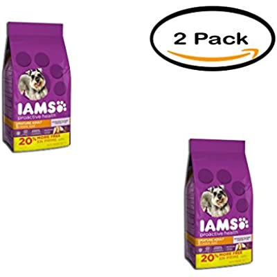Iams Pack of 2 Proactive Health Mature Adult Dry Dog Food, 7 Lb