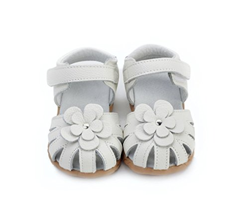 Baby Girl's New Fashion Leather Flower Non-slip Flat Sandals (US 6)