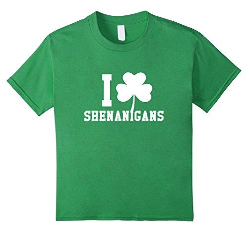 [Kids I LOVE Shenanigans Shamrock Saint Patrick's Day Tee Shirt 6 Grass] (St Patricks Day Shirts For Toddlers)