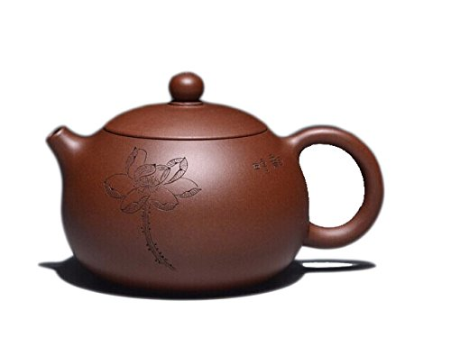Chinese Yixing Handmade Pure Clay Zisha Teapot Xishi Hu 30 Years Old Zi Ni Tea Pot 260cc Lotus