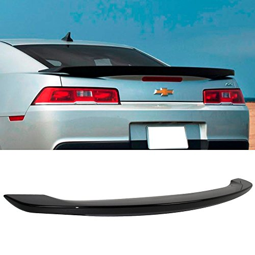 Pre-painted Trunk Spoiler Fits 2014-2015 Chevy Camaro | OE Factory Style Low Blade Style Painted Black #WA8555 ABS Exterior Trunk Rear Wing Tail Roof Top Lid Other Color Available by (Chevy Spoiler)