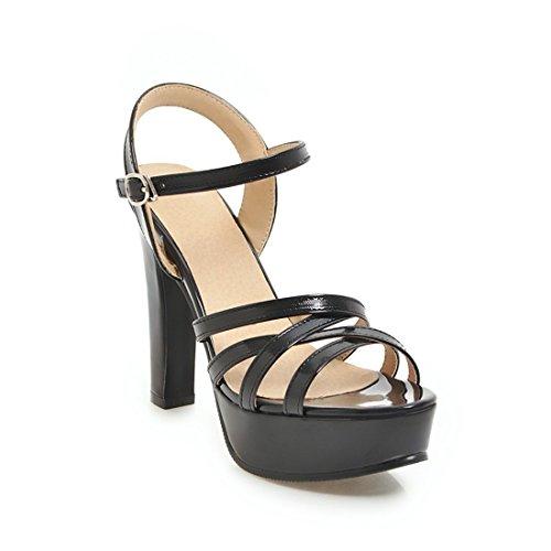 sandali sandali sandali alla signore ai moda dei sandali black sandali tavoli i impermeabile dei alti tacchi 37 e AZqHqUwz