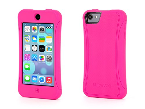 Griffin Hot Pink Survivor Slim Protective Silicone Case for iPod touch (5th/ 6th gen..) - Mil-Spec Rugged Case Slimmed Down for the Street Griffin Ipod