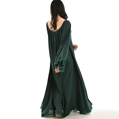 Renaissance Dress Blessume Medieval Gown Women Green Hq7wA