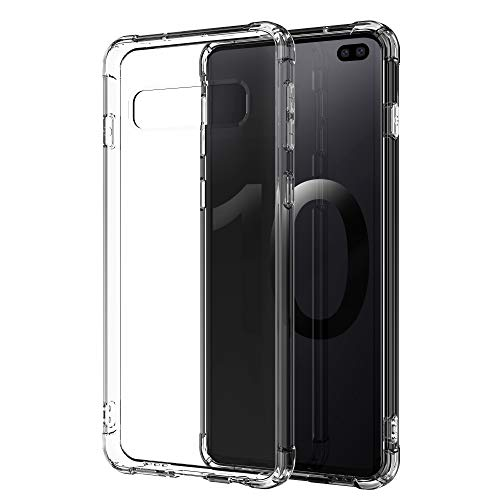 Lxlfcase Compatible for Samsung Galaxy S10 Plus Case 6.4(2019) [Anti-Scratch] [Anti-Drop] Premium Clear Flexible TPU Silicone Material Full Cover Phone Case for Galaxy S10+ (Crystal Clear)