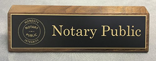 Notary Wood - Notary Desk Bar, Black/Gold