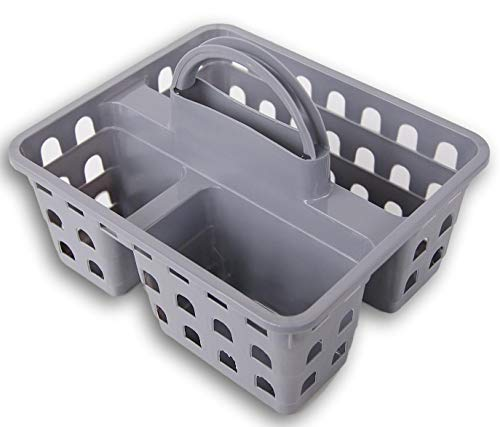 (Storage Solutions Plastic Utility Shower Caddy Tote (Light Gray))