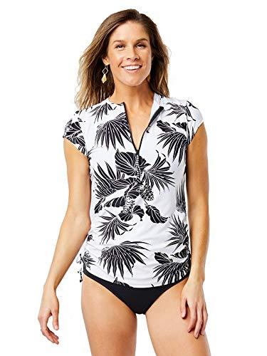 (CARVE Designs RGCR26 Dawson Rashguard Black/White Tropics XL)