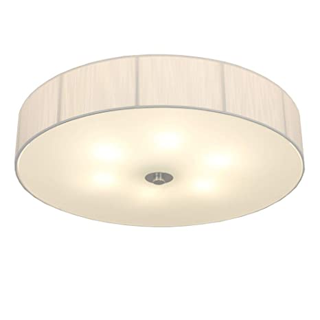 Lámpara de Techo con Pantalla de Tela en Blanco | Lámpara de ...