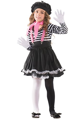 Mime Costumes For Kids (Mezmerizing Mime Child Costume - Medium)