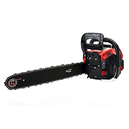Meditool 58cc Gas Powered Chainsaw Handheld Chain Saw with 20 Inch Bar & 2 Chains
