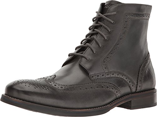 Rockport Men's Wyat Wingtip Boot,Dark Shadow Full Grain Leather,US 12 M - Black Brogue