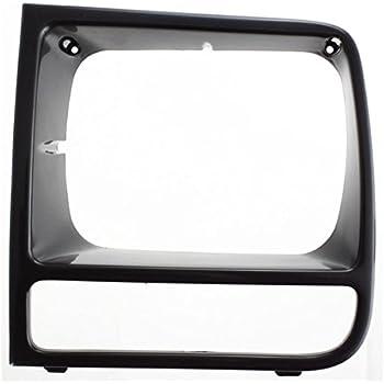 NEW RIGHT HEAD LIGHT DOOR GLOSS BLACK FOR 97-01 JEEP CHEROKEE CH2513156