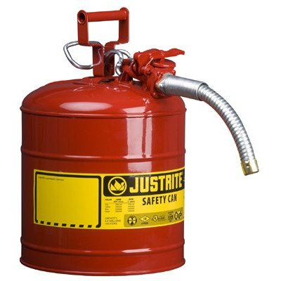 Type ll Safety Cans for Flammables - 5g/19l iiaf red 1quot; hose