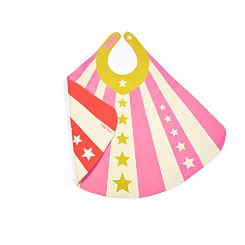 - Pink Orange Reversible Superhero Cape with Gold Stars for Girl Toddler