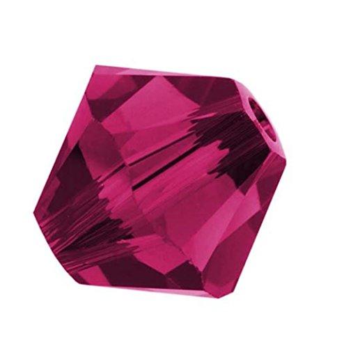 100pcs Genuine Preciosa Bicone Crystal Beads 4mm Ruby Alternatives For Swarovski #5301/5328#preb435