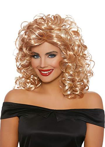 (Dreamgirl Women's 50'S Sandy Blonde/Honey Brown Mix Wig, One)