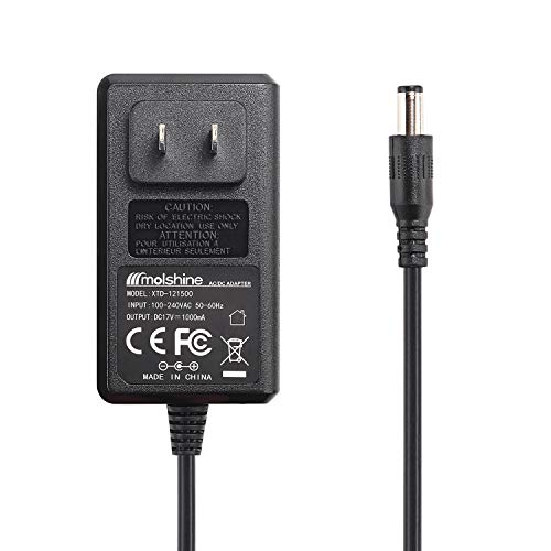 Molshine (6.5ft Cable) 17V AC/DC Wall Charger Power Adapter Compatible Bose SoundLink I II III/1,2,3(NOT FIT Soundlink Mini I,II,Colour),Part Numbers:10 306386-101 369946-1300 301141 404600 414255