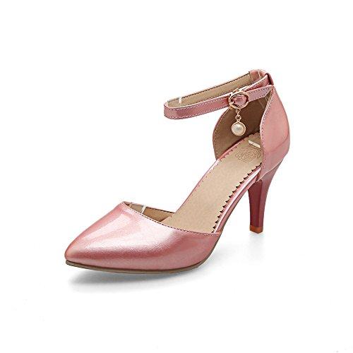 QIN&X Señaló la Mujer Tacones Toe Sandalias Al Tobillo. Pink