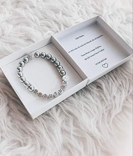 Brautmutter Geschenk personalisiert Brautmama Armband