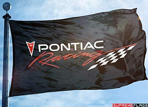 (Pontiac Racing Flag 3x5 ft Banner Black)