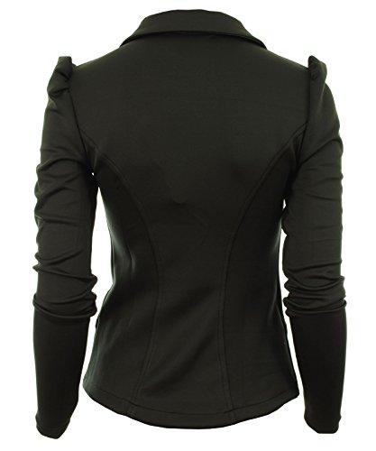 Pared Perchero Gracious El Bold Blazer 5 Girl Frontal Negro Señoras De Ponte Chaqueta Hombro nbsp;botón Mujer Para Mardela RRZqx4O