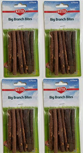 Branch Bites - Kaytee Big Branch Bites, 40 Pack, Small Pet Chew Toys