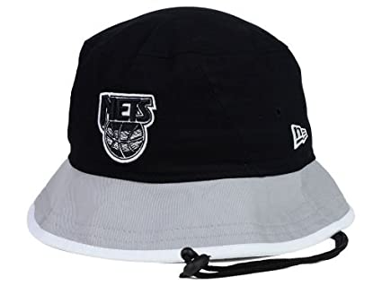 d462ecd0cce44 Image Unavailable. Image not available for. Color  Brooklyn Nets NBA  Throwback HWC Black-Top Bucket Hat (L)