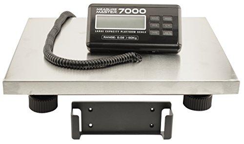(Measure Master Platform Scale - 7000 - Large Capacity Platform Scale 132 lb (60kg) - 32000g Capacity x 20g Accuracy)