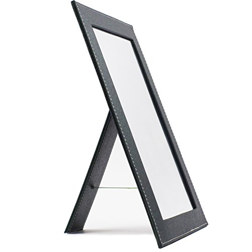 Rnow Foldable Desktop Mirror Home Travel Bright Cosmetic Mirror with Stand Green