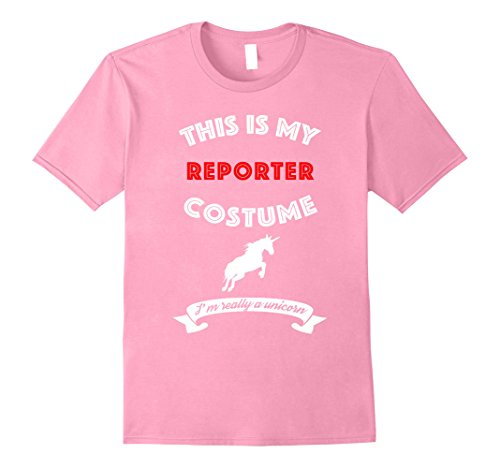 Reporter Costume (Mens This Is My Reporter Costume I'm Really Unicorn T-Shirt Large Pink)