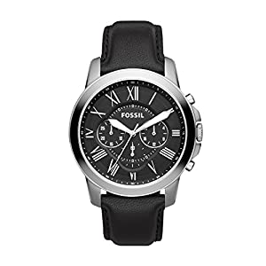 Fossil Grant Chronograph Black Dial Men's Watch – FS4812