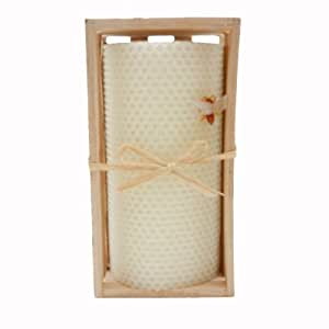 Green Pastures Wholesale Beeswax White Pillar Candle, 3-Inch by 6-Inch