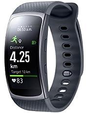 Samsung Gear Fit 2 Smartwatch med pulssensor och meddelanden – svart (L)