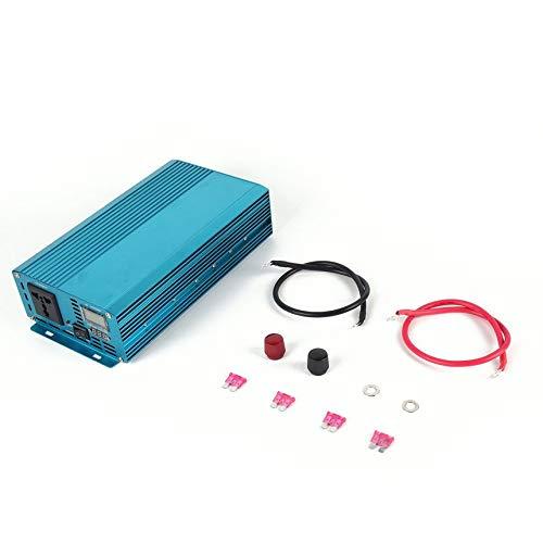 800W Pure Sine Wave Car Ingreener DC12V to AC220V Aluminum Alloy Housing bluee