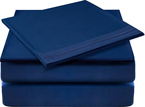 Glee&Cluster 4 piece Deep Pocket Bed Sheets Set Soft Brushed