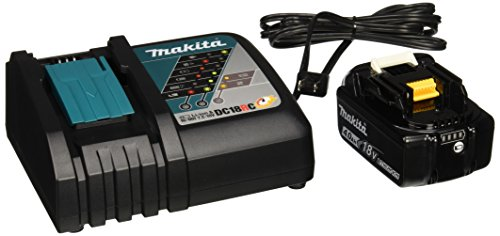 Makita OEM (1) DC18RC Charger & (2) BL1840 4.0 Ah Batteries with (1) plastic cover NEW