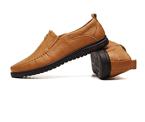 Big Size New Split Leather Casual Fashion Driving Moccasins Slip On Loafers Men 36~46,Huang Zong,10