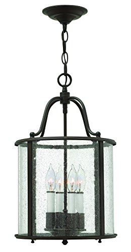 Hinkley 3474OB Traditional Four Light Foyer from Gentry collection in - Foyer Gentry Pendant