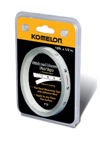 Measuring Tape Height - Komelon F12 12-Foot Stick and Measure Flat Tape Measure