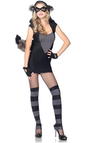 Leg Avenue Women's Risky Raccoon Costume, Black/Gray, Small/Medium]()