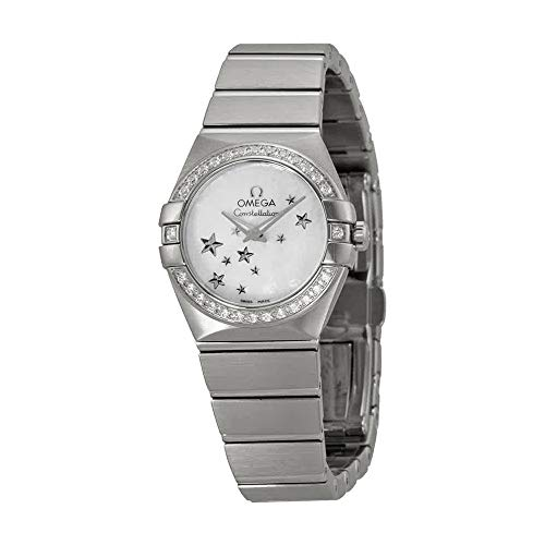 (Omega Constellation Star Mother of Pearl Dial Stainless Steel Ladies Watch)