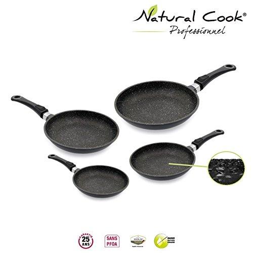 2 opinioni per Natural Cook Professionnel- Set di 4 padelle da 20, 24, 28 e 30 cm, in pietra di