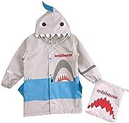 OldPAPA Kids Rain Coat Waterproof Rain Poncho Unisex Shark Shape Raining Coat for Boys and Girls