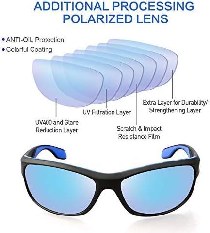 sport-Homme-Lunettes de soleil 100/% UV400 RW7245 Anti-reflet-Route-Guerrier
