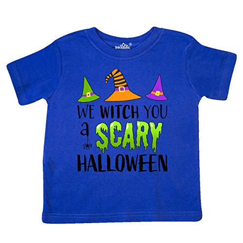 inktastic - We Witch You a Scary Halloween Toddler T-Shirt 5/6 Royal Blue -