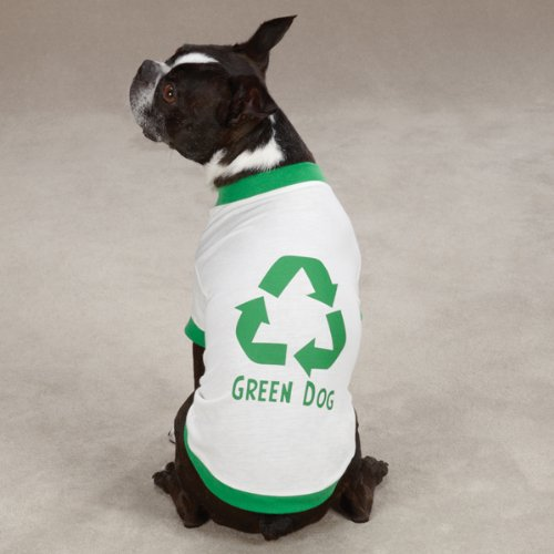 Green Dog Tee Apparel in White Size: Large (20'' L)