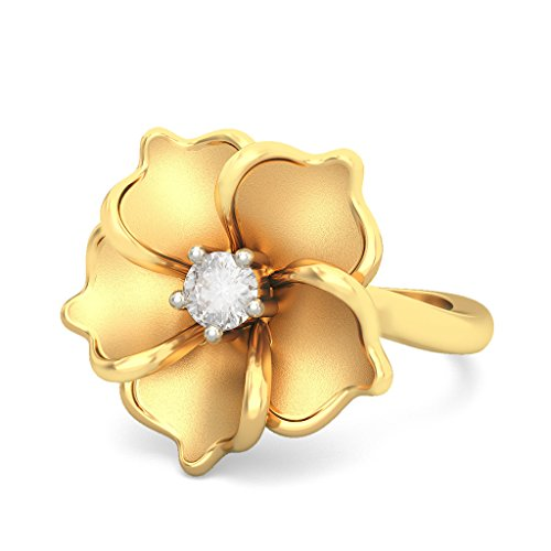 Or jaune 18K, 0,03carat Diamant Blanc (IJ   SI) en diamant