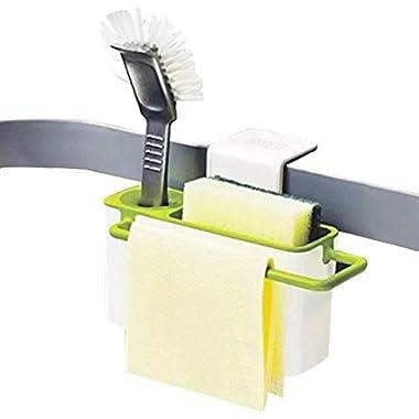 KF094 Creative Hanging Storage Drain Suction Basket Kitchenaid Tools Gadget Rack Brush Holder for Sink Organizer Great for Kitchen and Bathroom